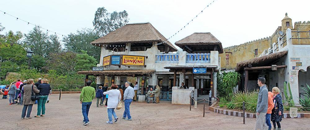 O teatro onde é apresentado o show Festival of the Lion King, no parque Animal Kingdom