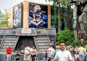 Jedi Academy e Star Tours no parque Hollywood Studios