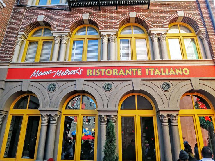 Fachada do Mama Melrose's Ristorante Italiano