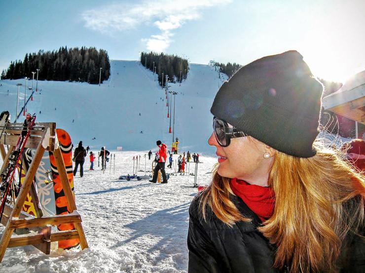 Na estação de Ski em Lagorai, Norte da Itália
