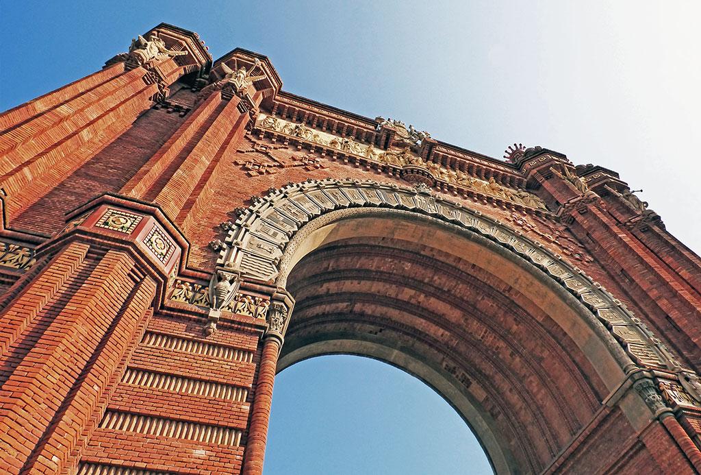Arc del Triunfo em Barcelona, Espanha