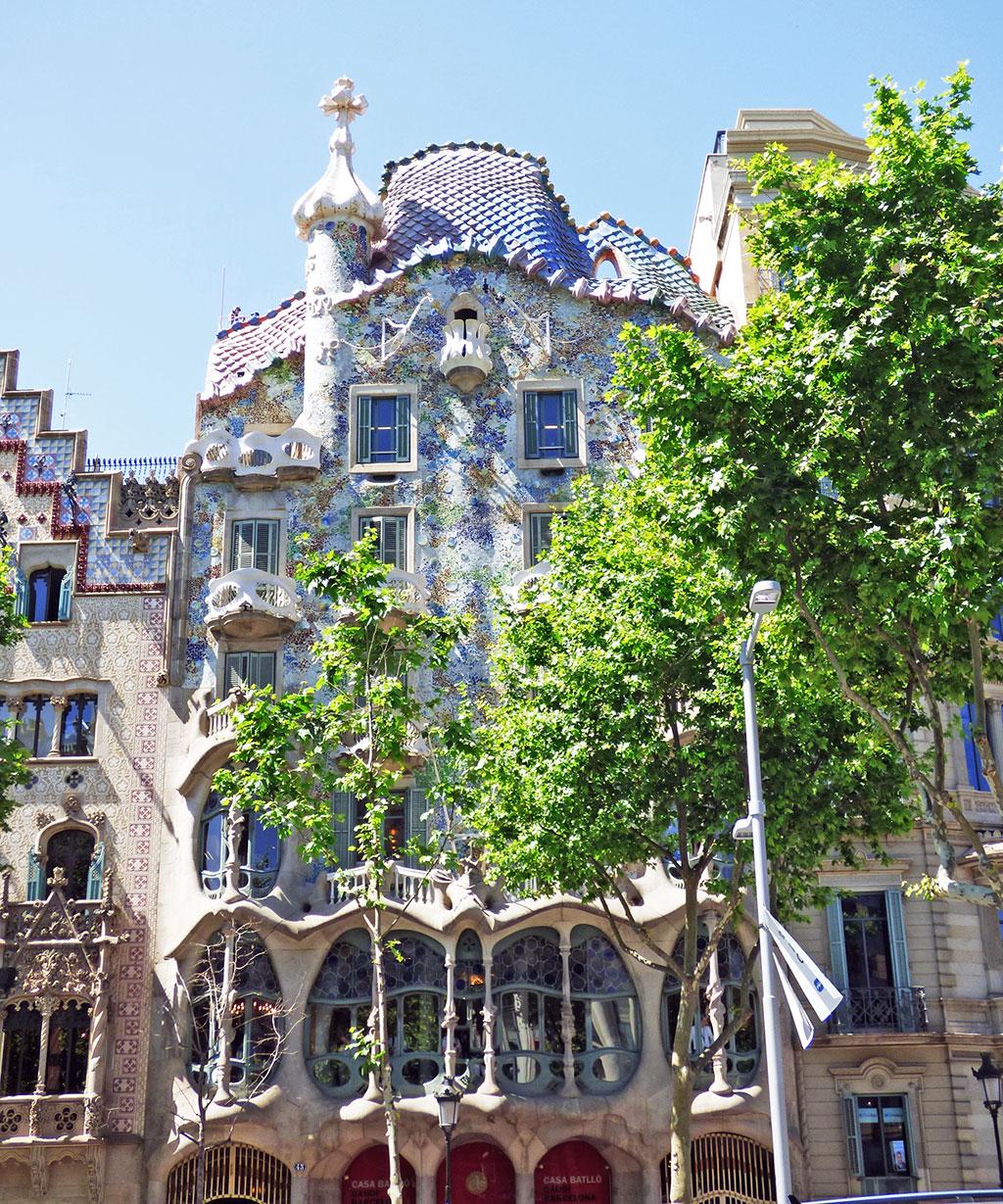 Casa Batlló, em Barcelona, Espanha