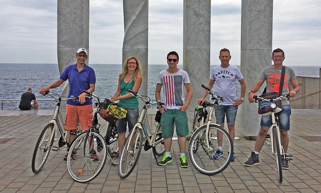 Tour de bike realizado pelo Sol de Barcelona