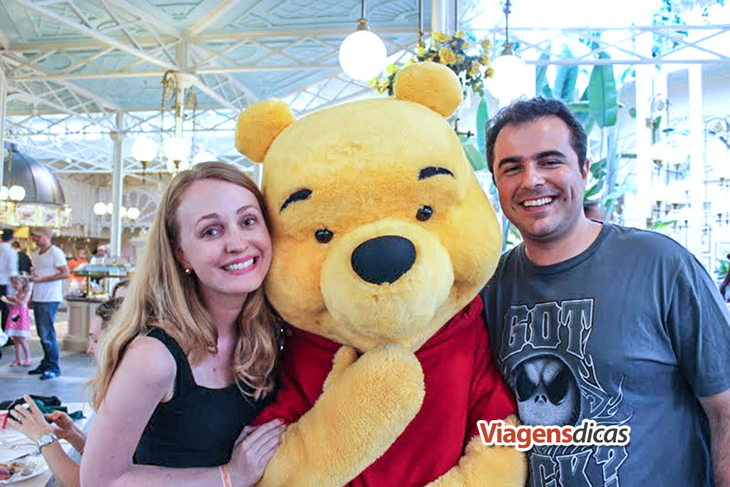 Nós com o Pooh no restaurante The Crystal Palace