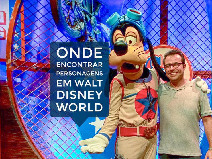 Onde encontrar personagens em Walt Disney World