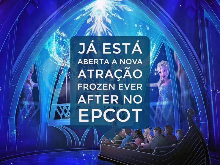 Já está aberta a nova atração Frozen Ever After no parque Epcot