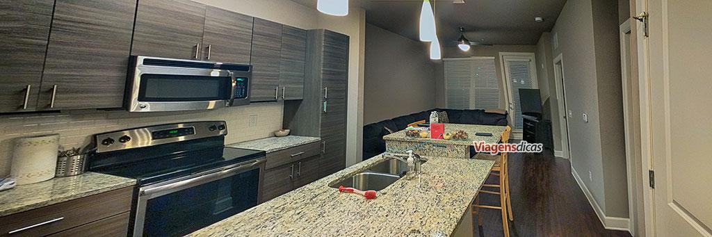 Panorama do apartamento que aluguei via Airbnb em Orlando