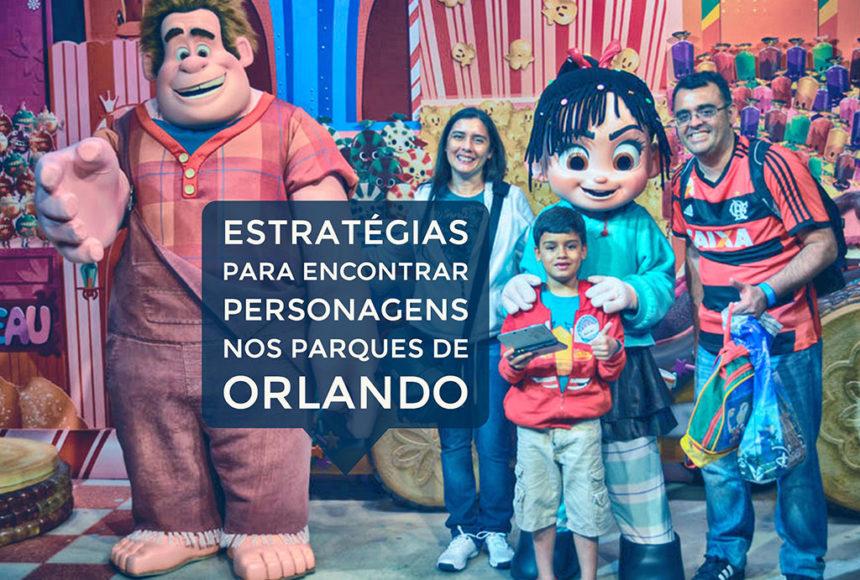 Estratégias para encontrar personagens nos parques de Orlando