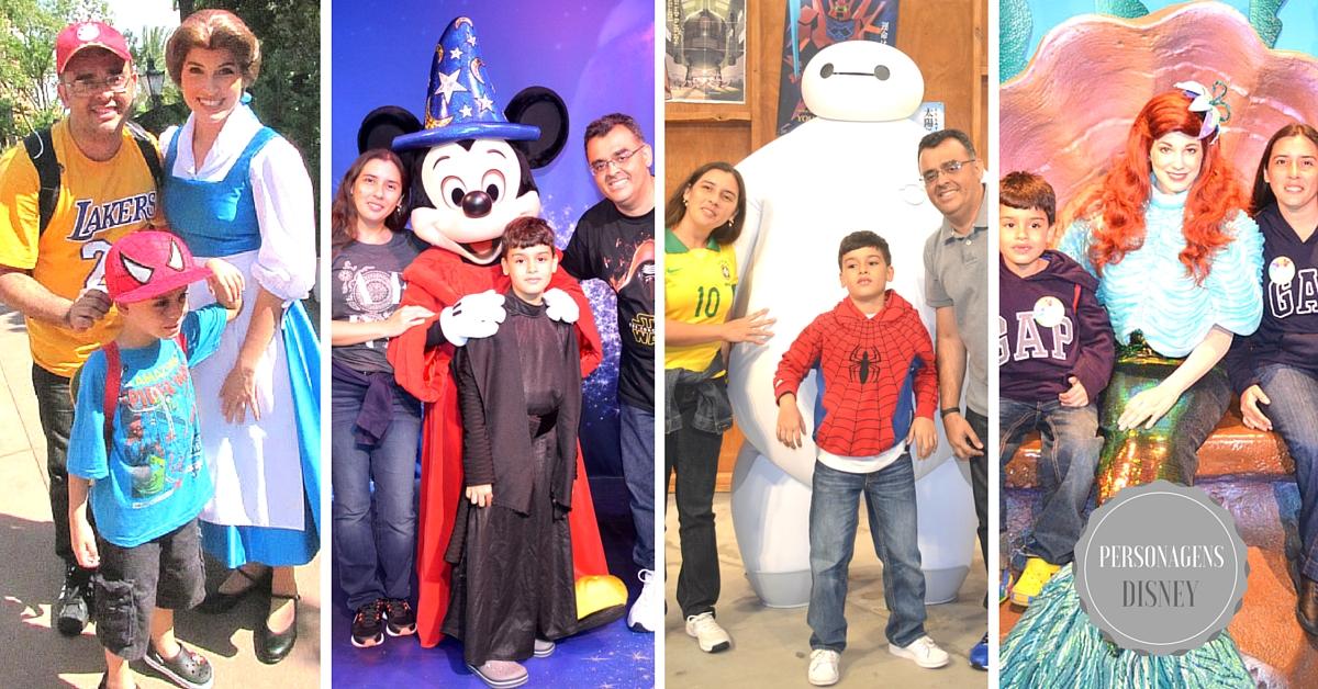 Personagens são abundantes nos parques Disney